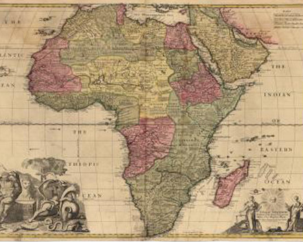 Africa corrected from the Observations of the Royal Society of London and Paris. By John Senex, London, 1711