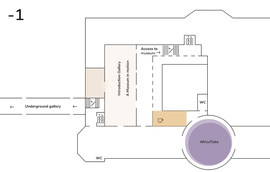 Basement plan of the museum